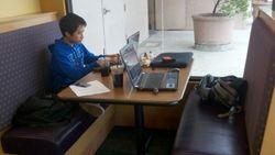Kou homework at panera 034